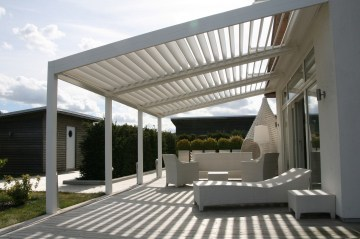 rotating waterproof aluminum louver roof blade system